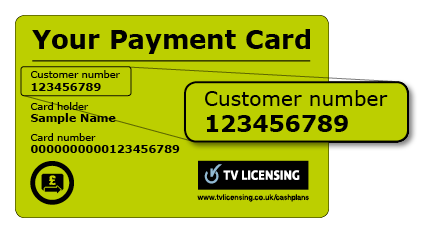 where to find your licence on your payment card