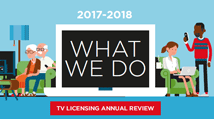 View TV Licensing's Annual Review 2017-18